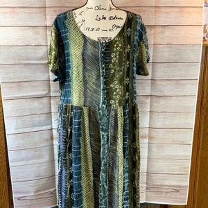 24 Karat Free Size Button Down Dress